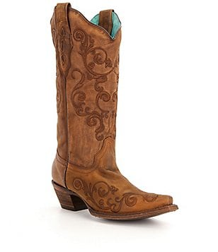 Corral Boots Embroidery Leather Riding Boots