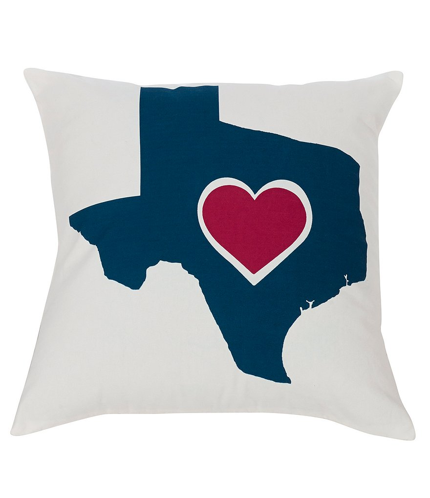 HiEnd Accents Ranger Collection Heart of Texas Pillow