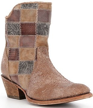 Corral Boots Patchwork Leather Pull-On Booties