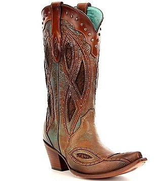 Corral Boots Studded Leather Pull-On Boots