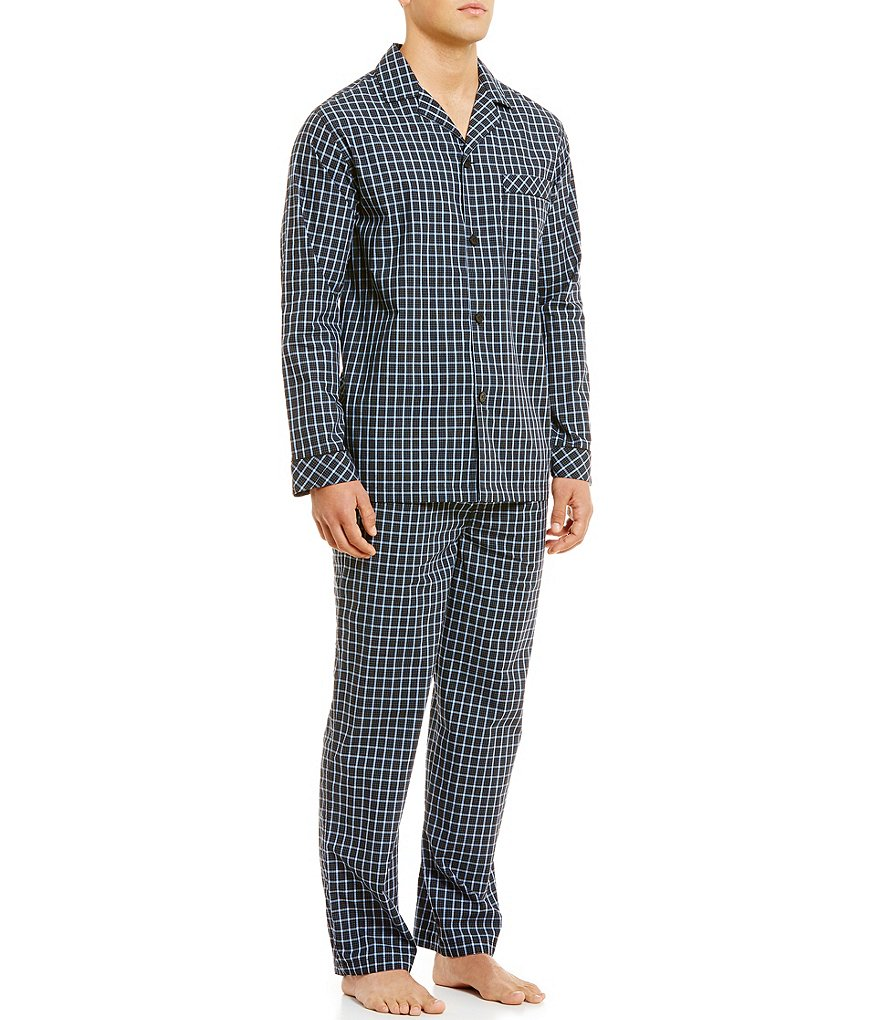 Roundtree & Yorke Checked Pajama Set