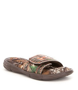 Under Armour Boy´s Ignite Camo Adjustable Strap Slip On Sandals