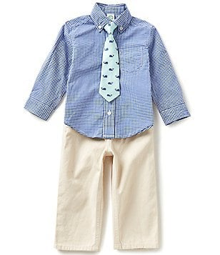 Little Me Baby Boys 12-24 Months Checked Shirt and Solid Pants Set