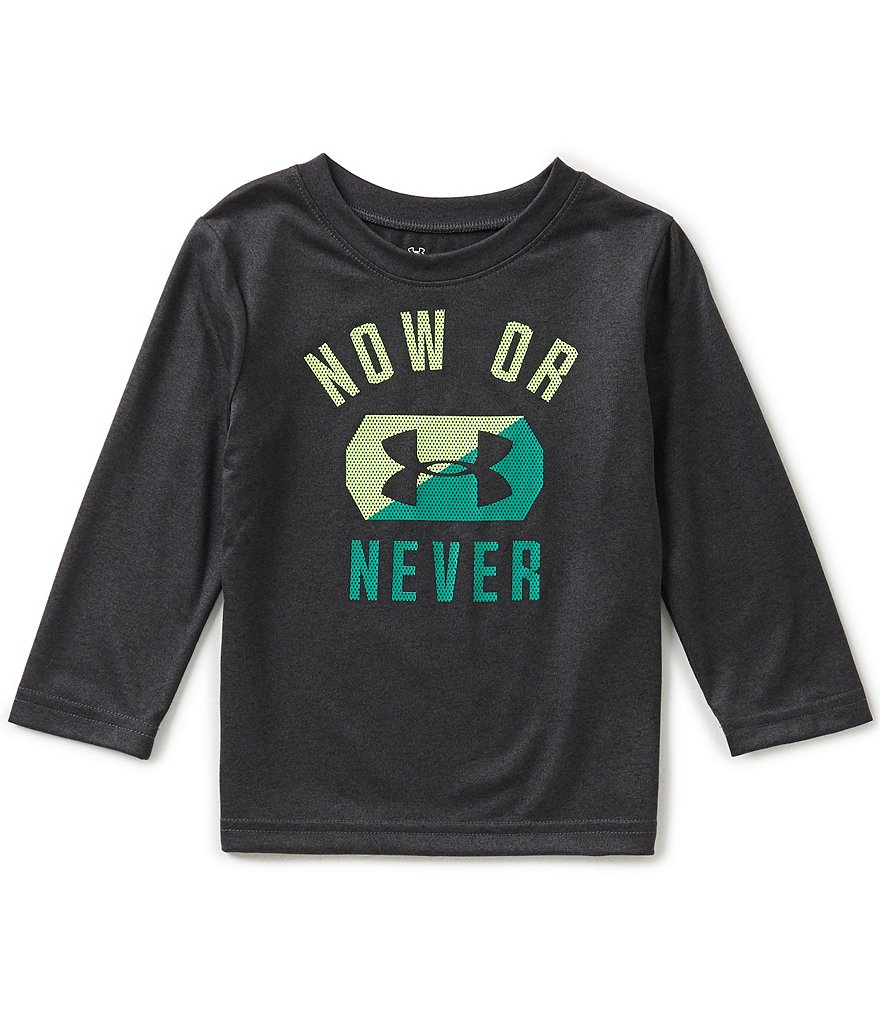 Under Armour Little Boys 2T-4T Now Or Never Long-Sleeve Graphic Tee