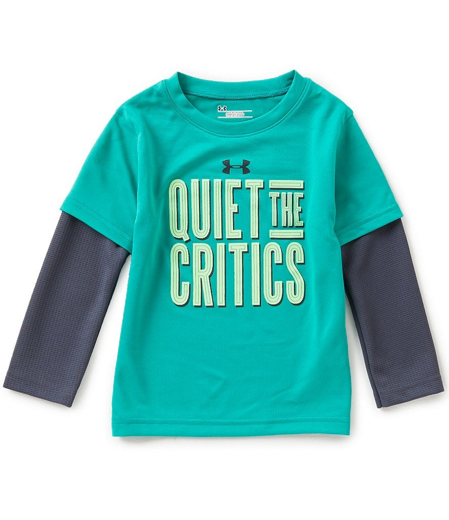 Under Armour Little Boys 2T-4T Quiet The Critics 2-Fer Slider Tee
