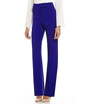 Preston & York York Slim Leg Solid Crepe Trouser Pant