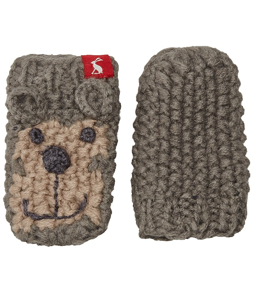 Joules Boys Hand Stitched Monkey Character Mittens