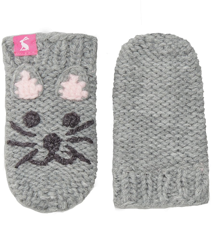 Joules Girls Hand Stitched Cat Character Mittens