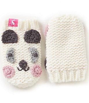 Joules Girls Hand Stitched Panda Character Mittens