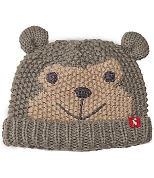 Joules Boys 3D Ear Monkey Character Beanie Hat