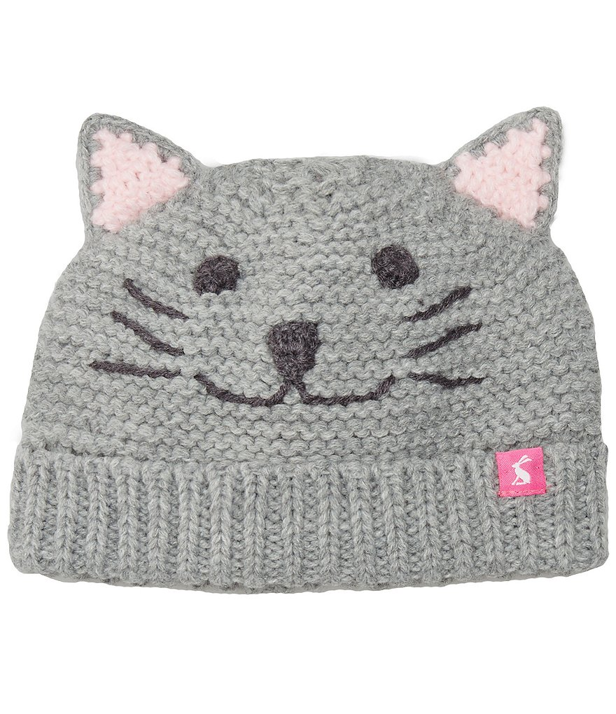 Joules Girls 3D Ear Cat Character Beanie Hat
