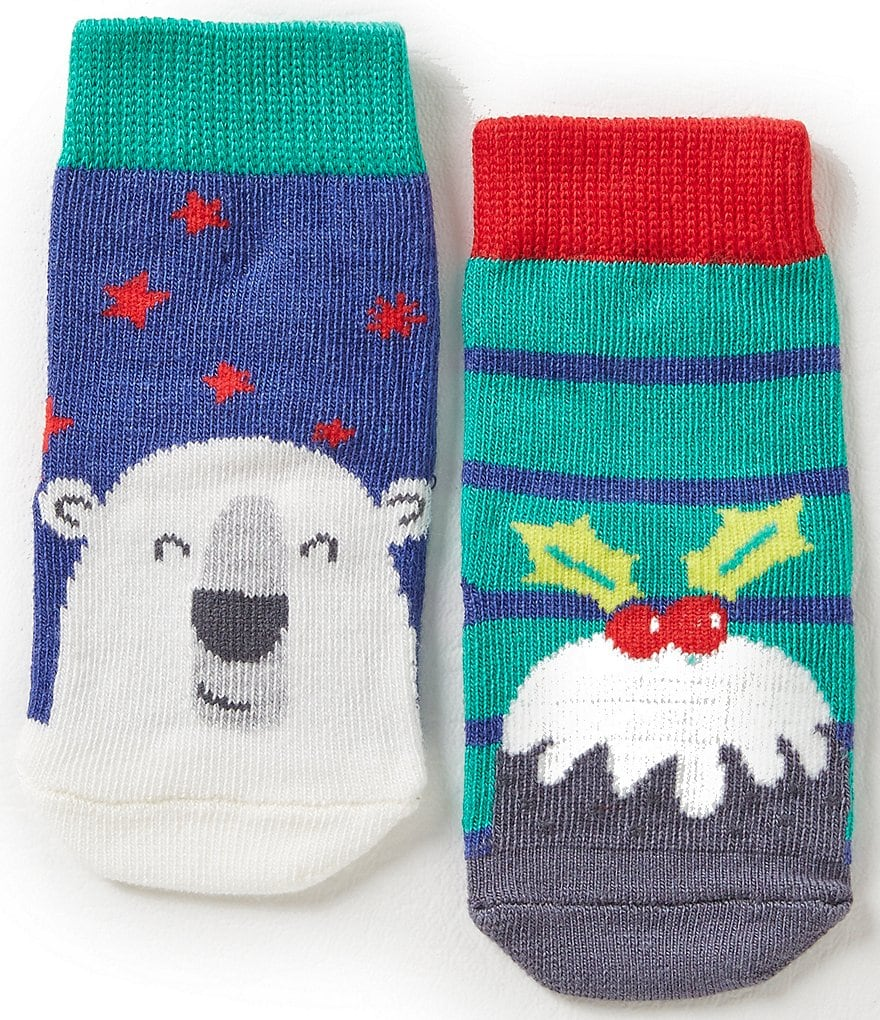 Joules Baby Boys Newborn-24 Months Christmas Sock 2-Pack Set