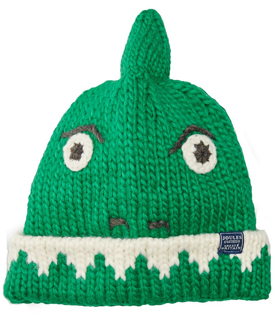 Joules Boys Hand Stitched Dino Character Beanie Hat