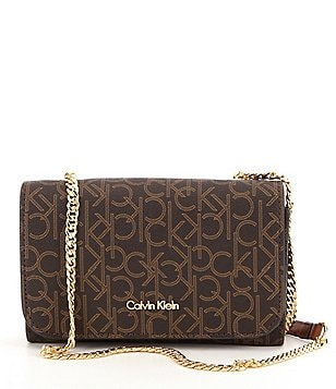 Calvin Klein Monogram Chain Cross-Body Bag