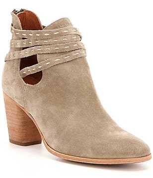 Frye Naomi Pickstitch Leather Pickstitch V-Throat Shooties