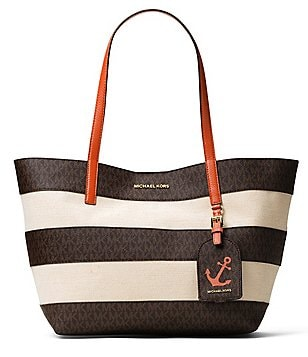 MICHAEL Michael Kors Striped Large East/West Canvas Tote