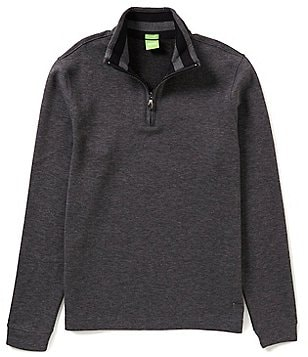BOSS Green C-Piceno Double-Face Mock Neck Quarter-Zip Pullover