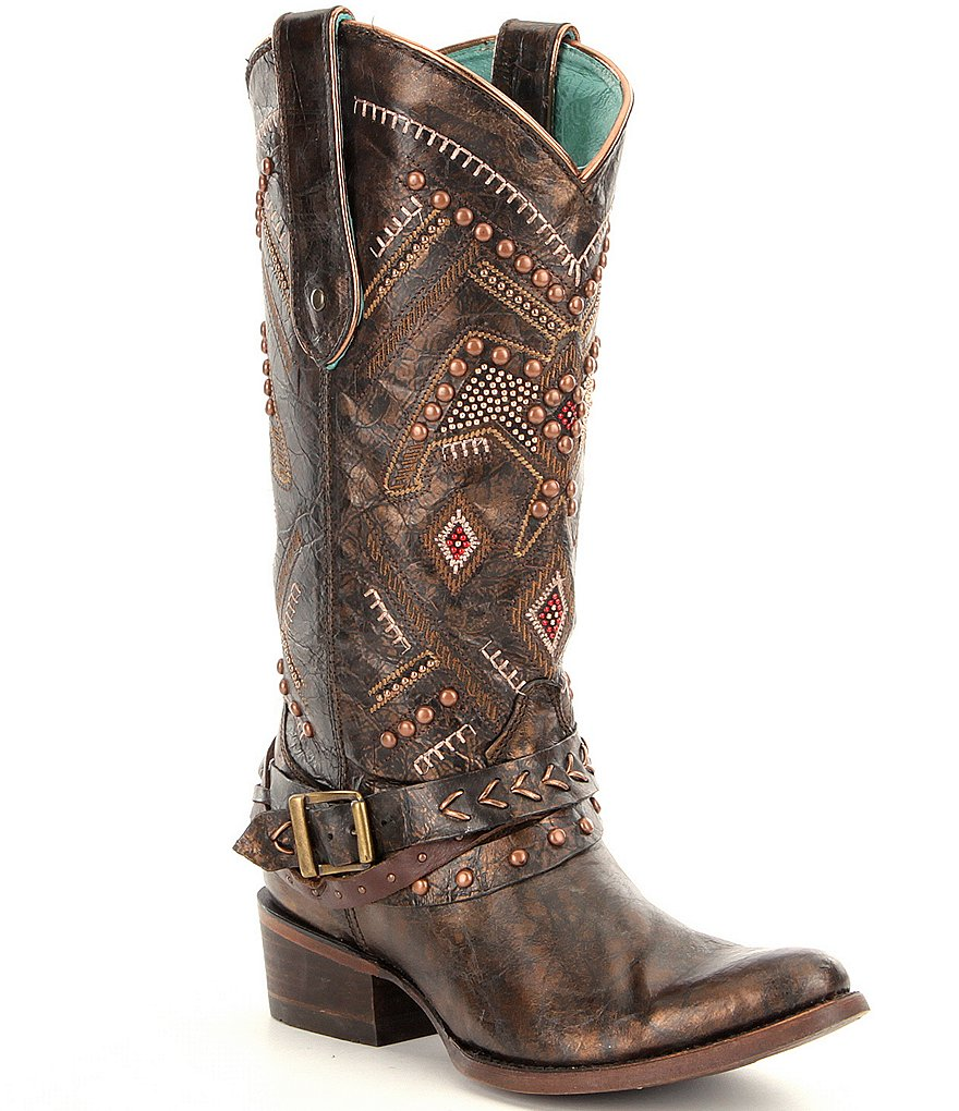 Corral Boots Studded Thunderbird and Harness Boots