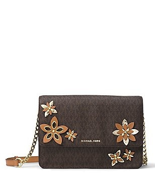 MICHAEL Michael Kors Daniela Signature Floral-Appliquéd Large Cross-Body Bag