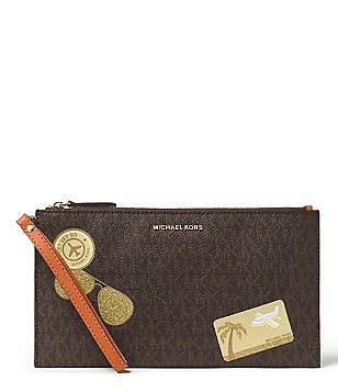 MICHAEL Michael Kors Fly Away Signature Large Zip Clutch