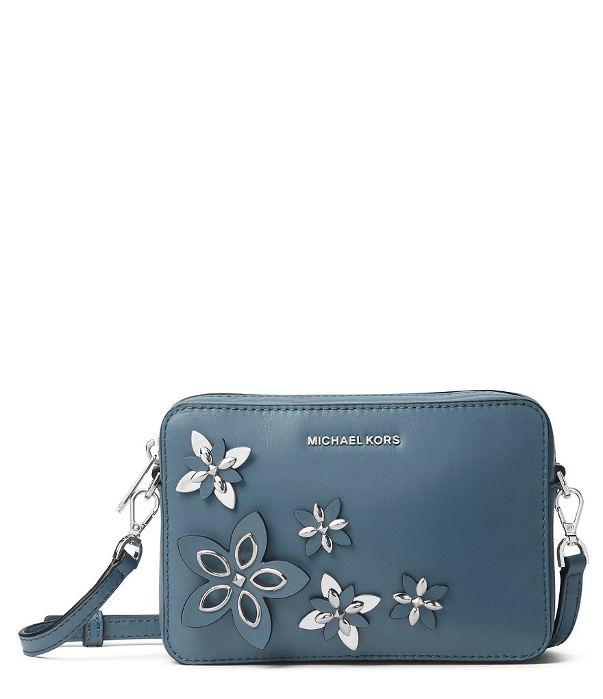 MICHAEL Michael Kors Flower-Appliquu00e9d Camera Cross-Body Bag | Dillards