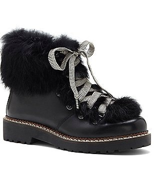 Arturo Chiang Philippa Rabbit Fur Booties