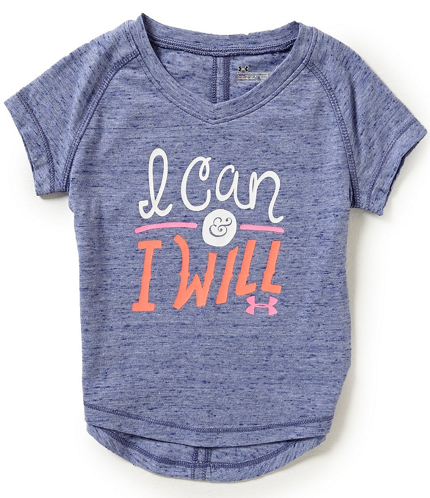 Under Armour Little Boys 2T-6X I Can & I Will Short-Sleeve Tee