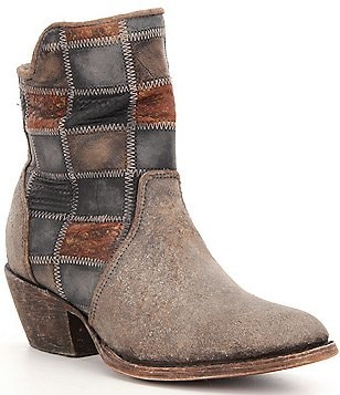 Corral Boots Leather Lined Patchwork Booties