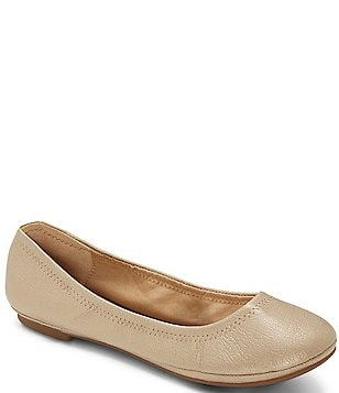 Lucky Brand Emmie Leather Round-Toe Ballet Flats