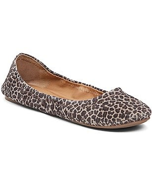 Lucky Brand Emmie Ballet Leopard Print Leather Flats