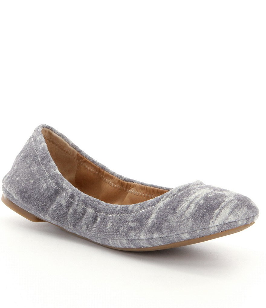 Lucky Brand Emmie Patterened Suede Ballet Flats