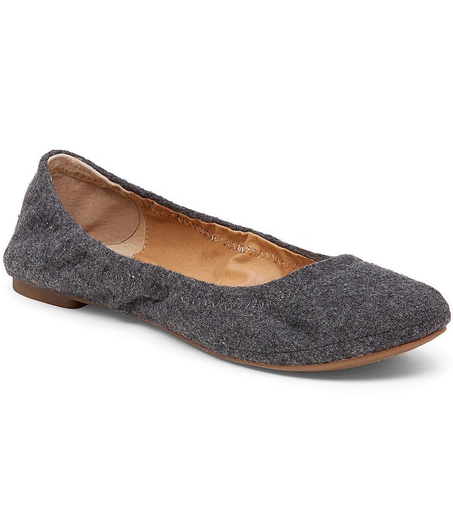 Lucky Brand Emmie Flannel Fabric Round Toe Ballet Flats
