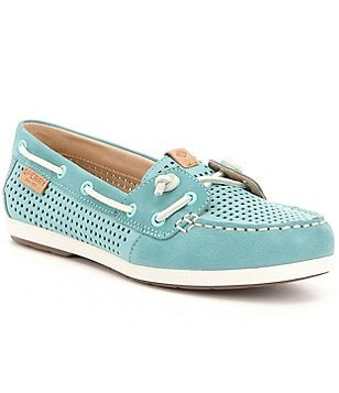 Sperry Coil Ivy Perforated Leather Slip-On Boat Shoes