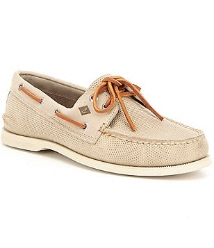 Sperry Men´s Authentic Original Leather Hand-Sewn 2-Eye Perfed Boat Shoes
