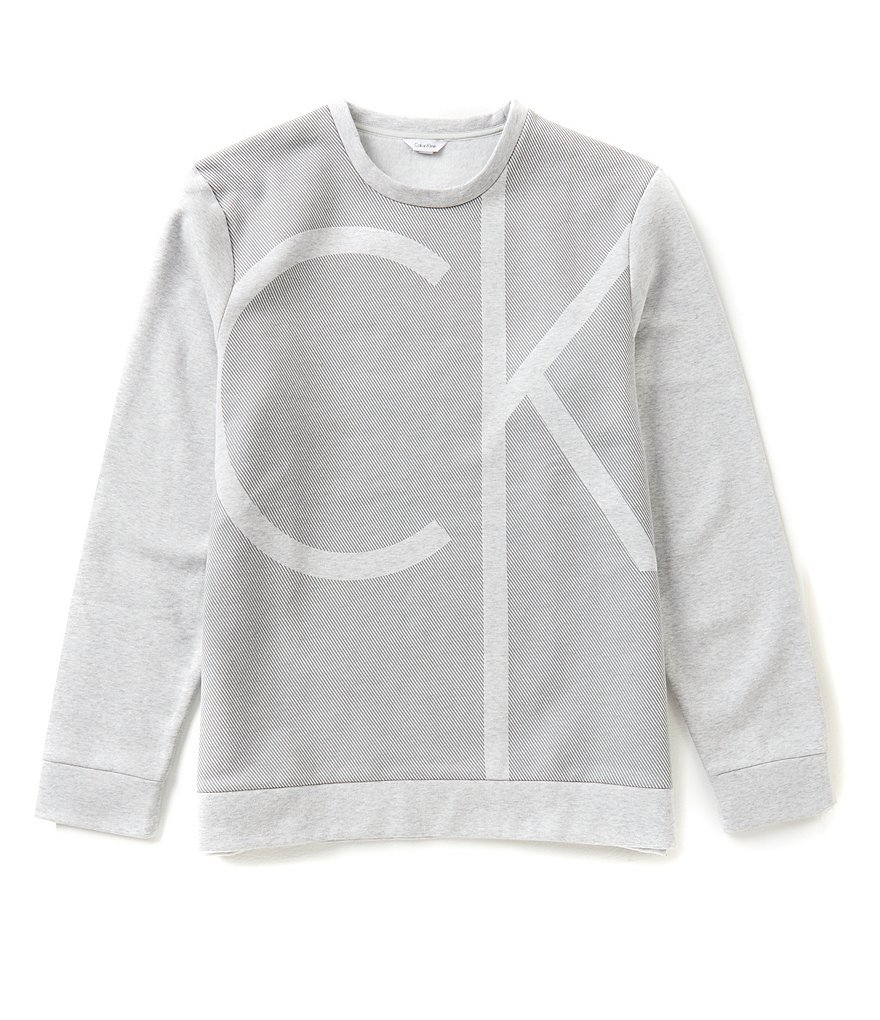 Calvin Klein Color Block Logo Long-Sleeve Sweatshirt