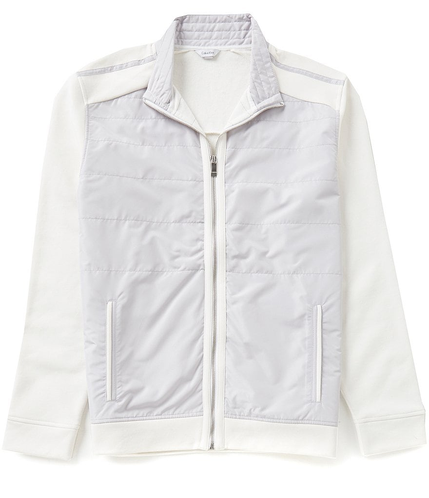 Calvin Klein Quilted Bomber Full-Zip Jacket