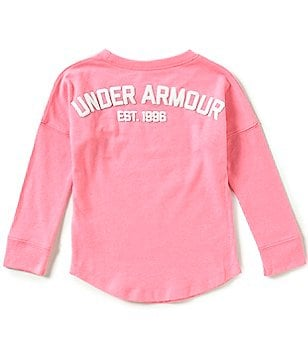 Under Armour Little Girls 2T-6X Varsity Long-Sleeve Top