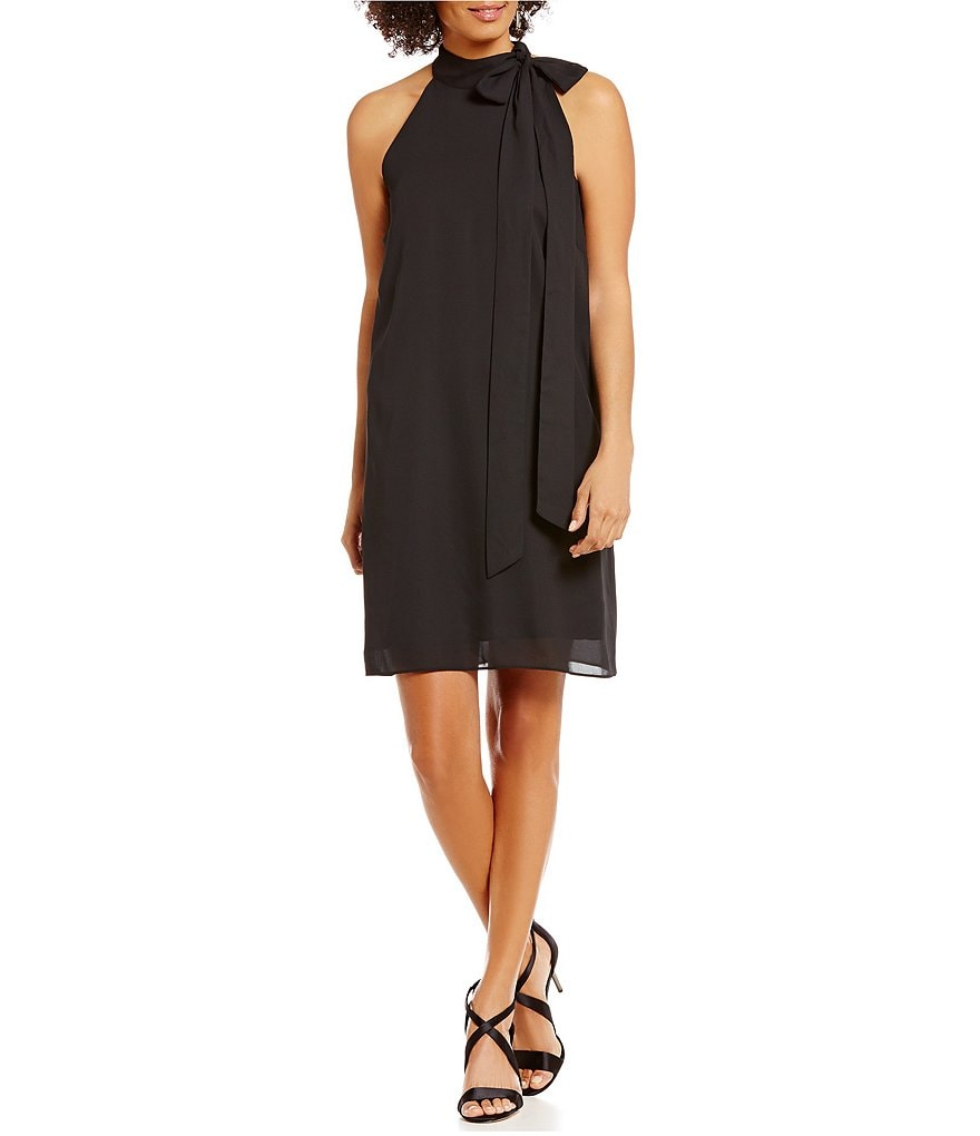 Cremieux Fabby Bow Mock Neck Sleeveless Dress