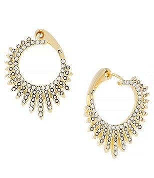 Vince Camuto Twisted Pavé Crossover Hoop Earrings