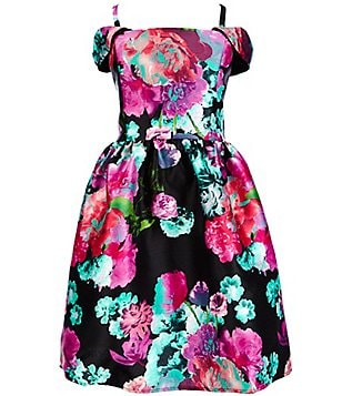Honey And Rosie Big Girls 7-16 Cold-Shoulder Floral Dress