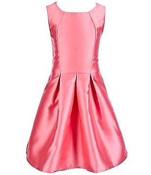 Honey And Rosie Big Girls 7-16 Pleated Satin Sleeveless Skater Dress