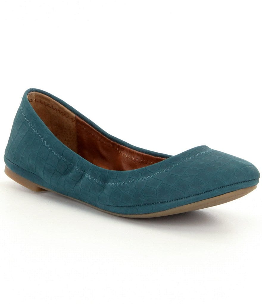 Lucky Brand Emmie Suede Round Toe Ballet Flats