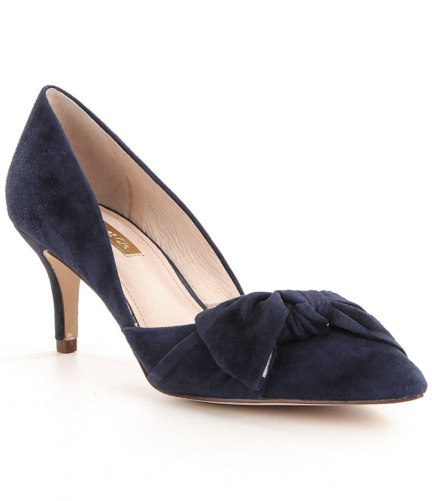 Louise Et Cie Adelena Bow Detail Suede D´orsay Pumps