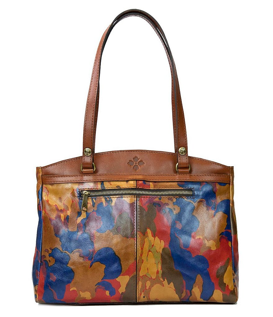 Patricia Nash Parisian Camo Collection Poppy Satchel