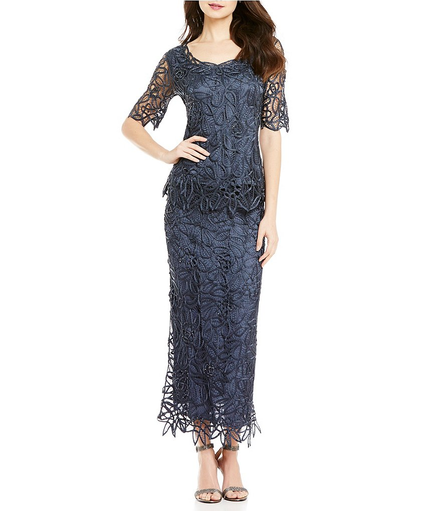 Soulmates Silk Lace Two-Piece Dress Set