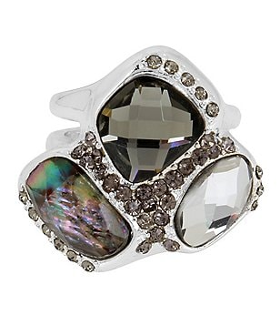 Robert Lee Morris Soho Stone Cluster Cutout Ring