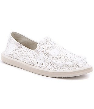 Sanuk Donna Crochet Textile Slip-On Shoes