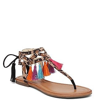 Jessica Simpson Kamel Tassled Flat Sandals