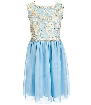 Honey And Rosie Big Girls 7-16 Rhinestone-Waist Soutache Dress