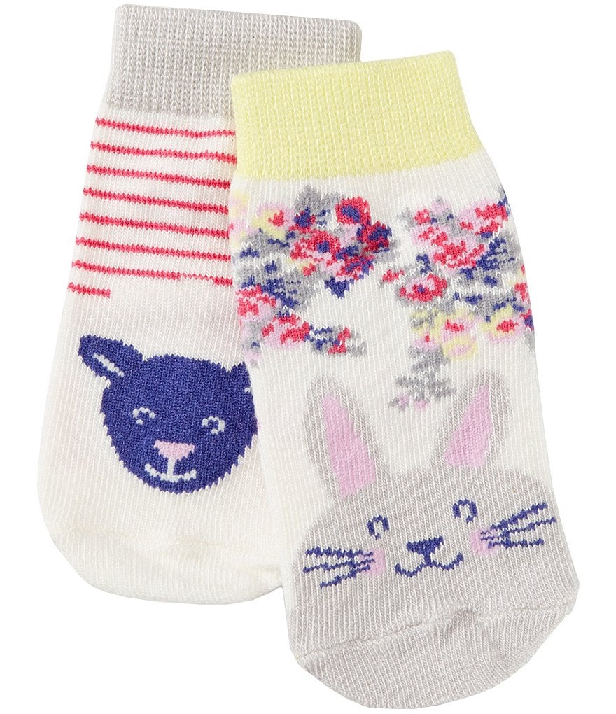 Joules Newborn-3T 2-Pack Character Socks